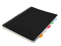 Closed black notepad notebook Stock Photo