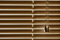 Windows closed blinds, sun protection on a bright day. Stock Image