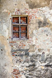 Closed blocked window and old wall Stock Photography