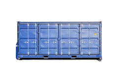 Closed blue cargo container isolated Royalty Free Stock Image