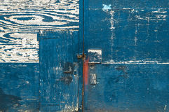 Closed blue door Royalty Free Stock Photo