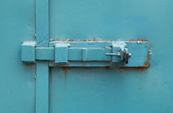 Closed Blue Door Stock Images
