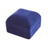 Closed blue jewelry box Stock Photo