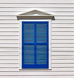 Closed Blue Shutters Stock Images