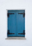 Closed Blue Shutters Royalty Free Stock Photo