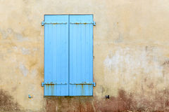 Closed blue shutters Stock Image