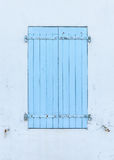 Closed blue shutters Royalty Free Stock Photography