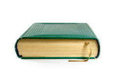 Closed book. With a bookmark on a white background Stock Image