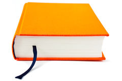 Closed book. Macro photo of the closed book with bookmark Royalty Free Stock Photography