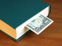 Closed book with the bookmark Stock Photos
