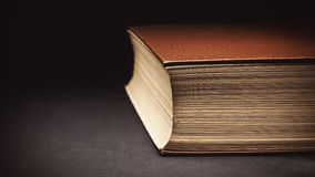 Closed Book Details Stock Photography