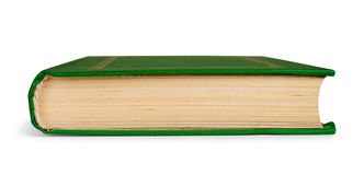 Closed book in green cover to the side Royalty Free Stock Photos