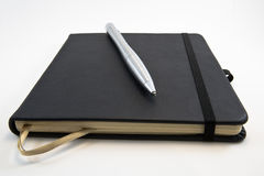 Closed book for sketches and mechanical pencil Royalty Free Stock Photography