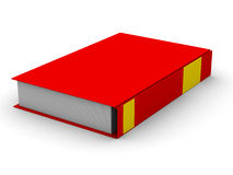 Closed book on white background. Isolated 3D image Stock Photos