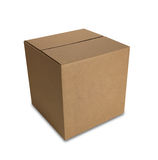 Closed Box with Path Royalty Free Stock Images