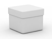 Closed box on white background. Isolated 3D image Stock Image