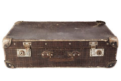 Closed Brown Suitcase Stock Photos