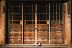 Closed Brown Wooden Gate Royalty Free Stock Photography