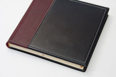 Closed business leather agenda on the white background Royalty Free Stock Images