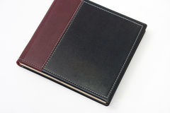 Closed business leather agenda on the white background Stock Photography