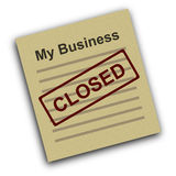 A closed business Stock Photos