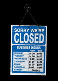 Closed business sign Stock Photography