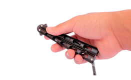Closed butterfly knife Royalty Free Stock Photography