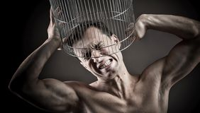 Closed in a cage, concept Stock Images