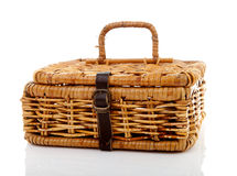 Closed cane basket Stock Photo