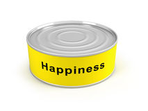 Closed canned happiness Royalty Free Stock Photos