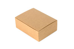 Closed cardboard Box or brown paper box isolated with soft shado Royalty Free Stock Photos