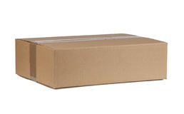 Closed cardboard box Stock Photography