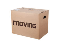 Closed cardboard box, isolated Stock Photography