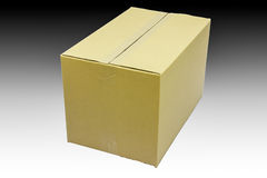 Closed cardboard box Royalty Free Stock Photo