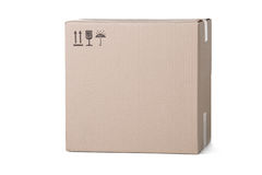 Closed cardboard box Royalty Free Stock Images