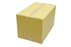 Closed cardboard box taped Royalty Free Stock Photos