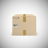Closed cardboard box taped up Royalty Free Stock Photography