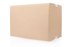 Closed cardboard box Royalty Free Stock Image