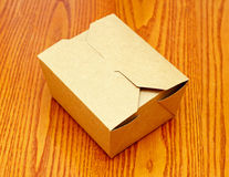 Closed carton package Stock Photography