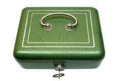 Closed Cash Box w/ Path (Top View) Stock Photos