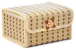 Closed casket for storage of jewelry Royalty Free Stock Photo