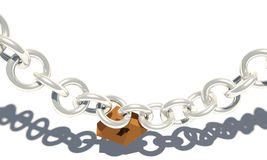 Closed chain lock Royalty Free Stock Photos