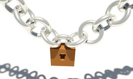 Closed chain lock Stock Photo