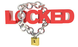 Closed chain lock Royalty Free Stock Images
