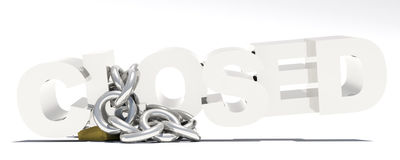 Closed chain lock Stock Image