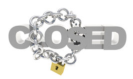 Closed chain lock Stock Images