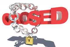 Closed chain lock Royalty Free Stock Image