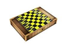 Closed chess box  on white Stock Photos