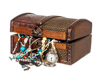 Closed chest of jewelery stock photography