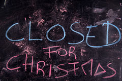 Closed for Christmas Royalty Free Stock Photo